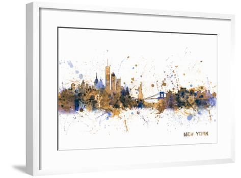 New York Skyline-Michael Tompsett-Framed Art Print