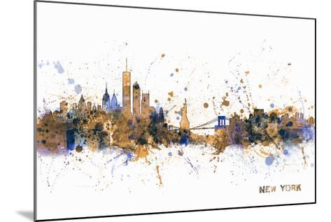 New York Skyline-Michael Tompsett-Mounted Art Print