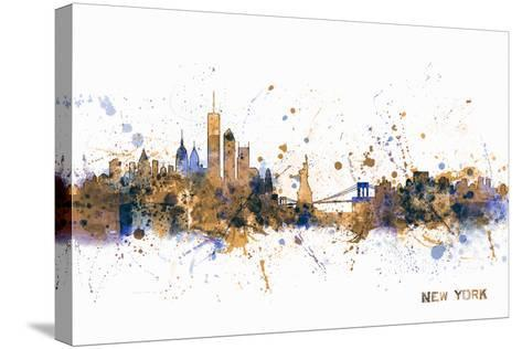 New York Skyline-Michael Tompsett-Stretched Canvas Print