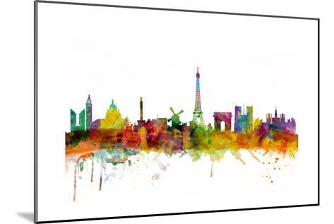 Paris France Skyline-Michael Tompsett-Mounted Art Print