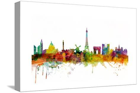 Paris France Skyline-Michael Tompsett-Stretched Canvas Print