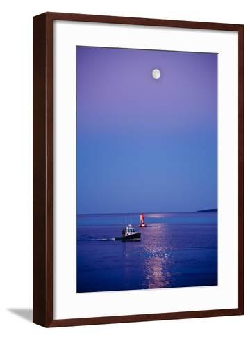 Ocean Moonrise-Steve Gadomski-Framed Art Print
