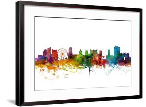 Nottingham England Skyline-Michael Tompsett-Framed Art Print