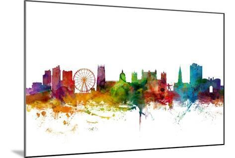 Nottingham England Skyline-Michael Tompsett-Mounted Art Print