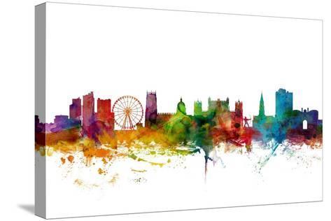 Nottingham England Skyline-Michael Tompsett-Stretched Canvas Print