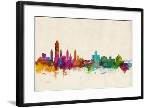 Albany New York Skyline-Michael Tompsett-Framed Art Print