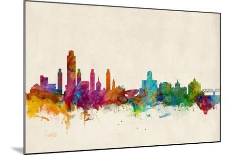 Albany New York Skyline-Michael Tompsett-Mounted Art Print