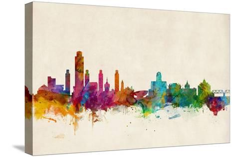 Albany New York Skyline-Michael Tompsett-Stretched Canvas Print