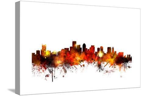 Boston Massachusetts Skyline-Michael Tompsett-Stretched Canvas Print