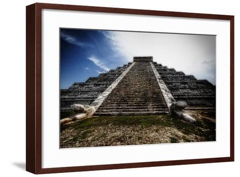 Pyramid of Kukulcan, Chichen Itza, Mexico-George Oze-Framed Art Print