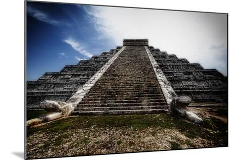 Pyramid of Kukulcan, Chichen Itza, Mexico-George Oze-Mounted Photographic Print