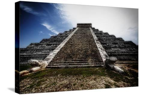 Pyramid of Kukulcan, Chichen Itza, Mexico-George Oze-Stretched Canvas Print