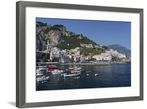 View of Amalfi Harbor, Campania, Italy-George Oze-Framed Art Print