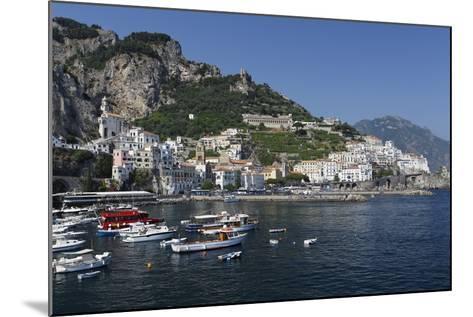 View of Amalfi Harbor, Campania, Italy-George Oze-Mounted Photographic Print