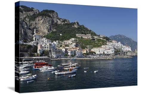View of Amalfi Harbor, Campania, Italy-George Oze-Stretched Canvas Print