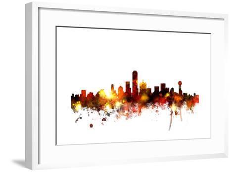 Dallas Texas Skyline-Michael Tompsett-Framed Art Print