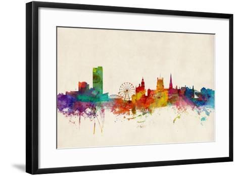 Sheffield England Skyline-Michael Tompsett-Framed Art Print