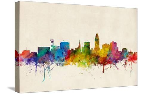 Lincoln Nebraska Skyline-Michael Tompsett-Stretched Canvas Print