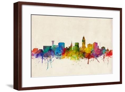 Lincoln Nebraska Skyline-Michael Tompsett-Framed Art Print