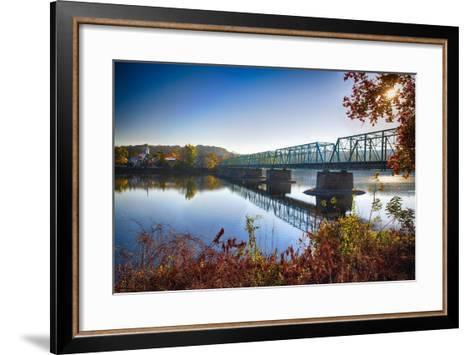 Delaware River Bridge-George Oze-Framed Art Print