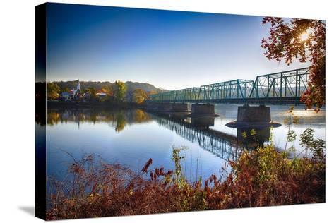 Delaware River Bridge-George Oze-Stretched Canvas Print