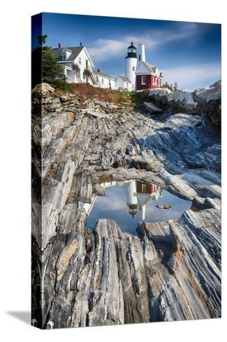 Lighthouse Reflection, Pemaquid Point, Maine-George Oze-Stretched Canvas Print
