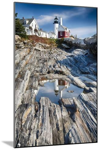 Lighthouse Reflection, Pemaquid Point, Maine-George Oze-Mounted Photographic Print