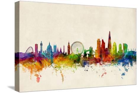 London England Skyline-Michael Tompsett-Stretched Canvas Print