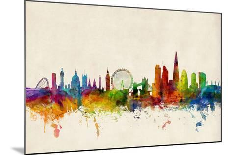 London England Skyline-Michael Tompsett-Mounted Art Print