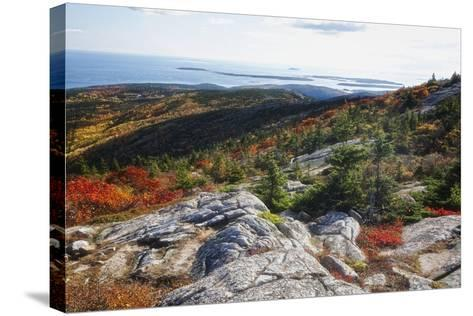 Best View from the Cadillac Mountain-George Oze-Stretched Canvas Print