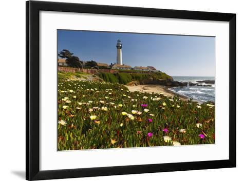 Pigeon Point Spring Vista, California-George Oze-Framed Art Print