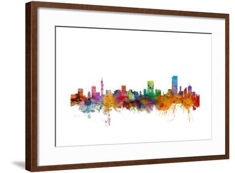 Pretoria South Africa Skyline-Michael Tompsett-Framed Art Print