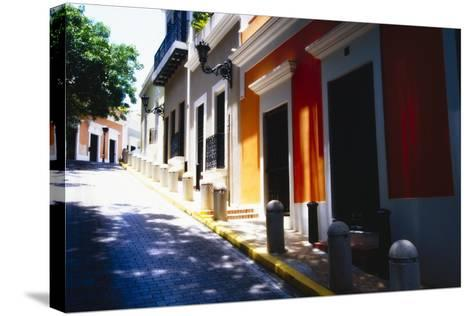 Calle Del Sol, Old San Juan; Puerto Rico-George Oze-Stretched Canvas Print