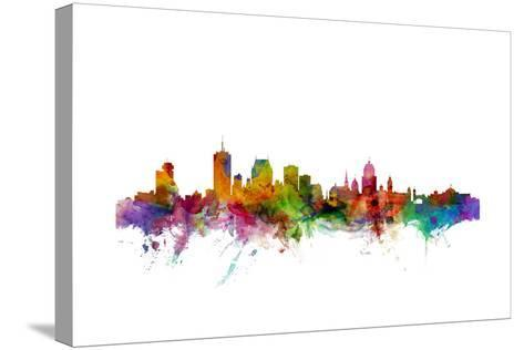 Quebec Canada Skyline-Michael Tompsett-Stretched Canvas Print
