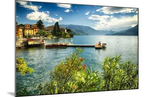 Varenna Harbor View On Lake Como-George Oze-Mounted Photographic Print