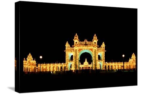 Mysore Palace-Charles Bowman-Stretched Canvas Print