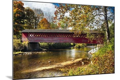 Burt Henry Covered Bridge, Vermont-George Oze-Mounted Photographic Print