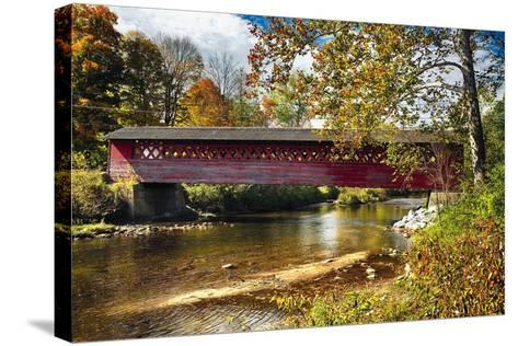 Burt Henry Covered Bridge, Vermont-George Oze-Stretched Canvas Print