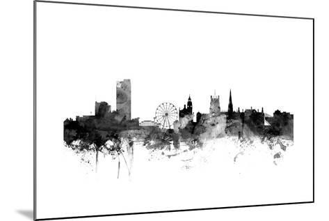 Sheffield England Skyline-Michael Tompsett-Mounted Art Print