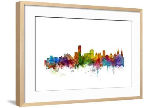 Adelaide Australia Skyline-Michael Tompsett-Framed Art Print
