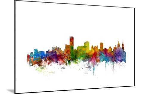 Adelaide Australia Skyline-Michael Tompsett-Mounted Art Print