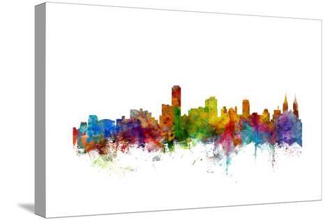 Adelaide Australia Skyline-Michael Tompsett-Stretched Canvas Print
