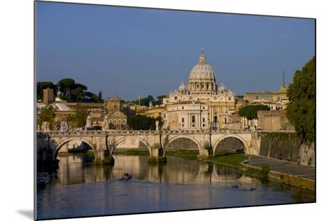 St Peters Rome Across River Tiber-Charles Bowman-Mounted Photographic Print