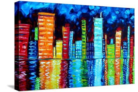 City Nights II-Megan Aroon Duncanson-Stretched Canvas Print