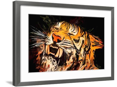The Tiger-Rabi Khan-Framed Art Print