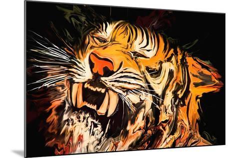 The Tiger-Rabi Khan-Mounted Art Print