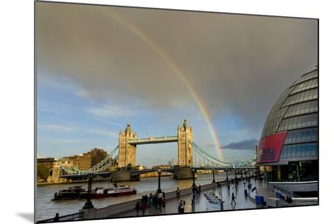 Tower Bridge Rainbow-Charles Bowman-Mounted Photographic Print