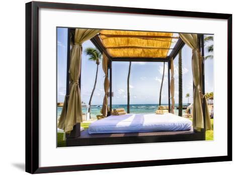 Caribbean Cabana, Puerto Rico-George Oze-Framed Art Print