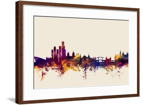 Amsterdam The Netherlands Skyline-Michael Tompsett-Framed Art Print