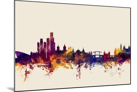 Amsterdam The Netherlands Skyline-Michael Tompsett-Mounted Art Print